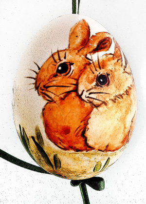 Osterei 221 - Zwei kleine Hasen
