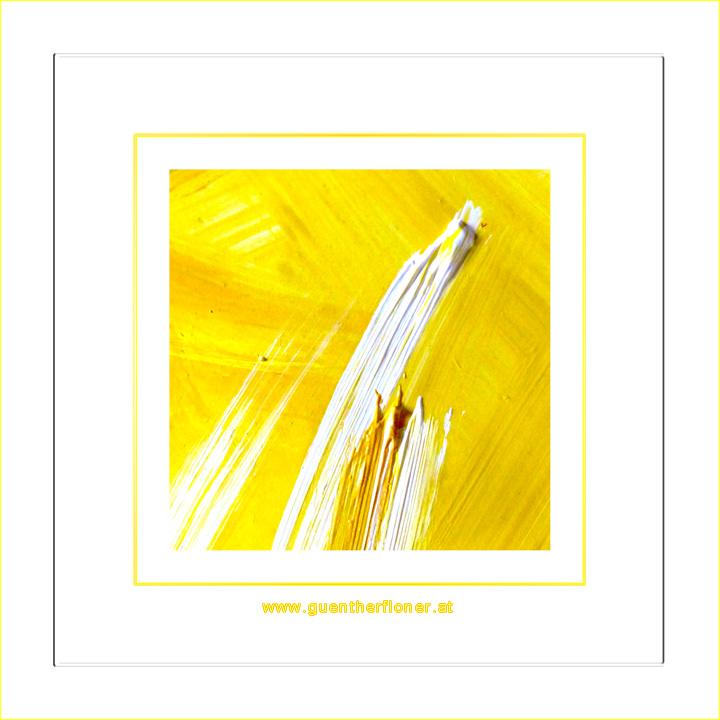 Gelbes Licht in weiss