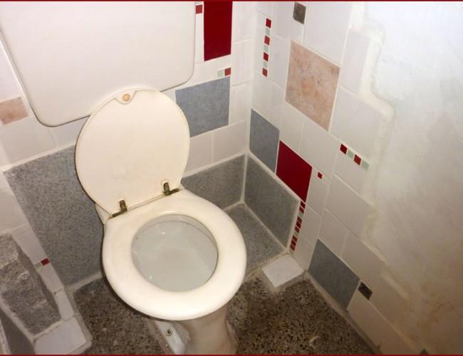 fliesen mosaik wc in wei und rot g nther floner. Black Bedroom Furniture Sets. Home Design Ideas