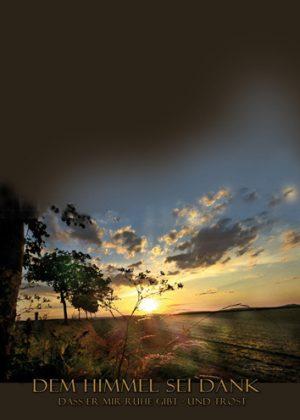 Textbild 027 - Dem Himmel sei Dank für Ruhe und Trost