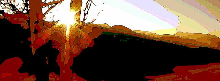 Sonnenlicht in gelborange
