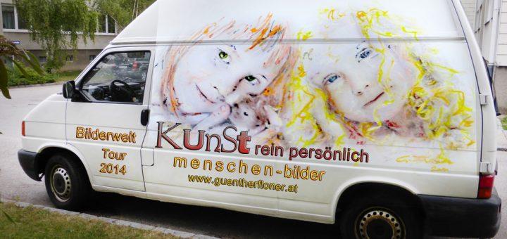 Die Fahrende Galerie - Bilderwelt-Tour 2014