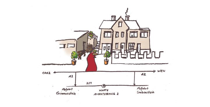 Die kleine Burg - Zeichnung von Sabine Floner
