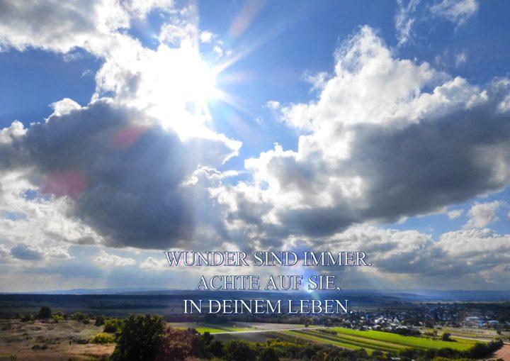 Textbild 41 - Achte auf die Wunder in deinem Leben