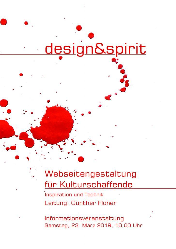 design und spirit. - Lehrgang Webseitengestaltung für Kulturschaffende